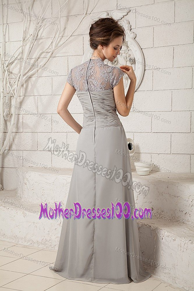 Lace Decorated Ruching Mother of the Groom Dresses New Arrival