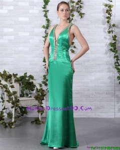 2015 Elegant Beading Young Mothers Dresses with Brush Train