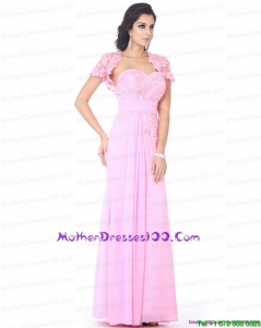 Cute Beading Sweetheart Young Mothers Dresses in Baby Pink