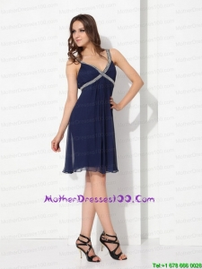 Sequins Ruffled Navy Blue Perfect Plus Size Mothers Dresses for 2015