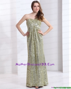 Exclusive One Shoulder Floor Length Sequined Mother of the Bride Dress for 2015
