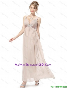 Cheap Straps Ankle Length Mother Dresses in Champagne