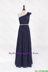 Comfortable Empire Asymmetrical Beaded Fashionable Mother Dresses with Belt