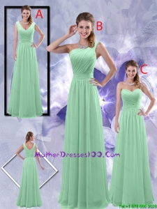 Perfect Zipper up Ruched Mother Dresses in Apple Green