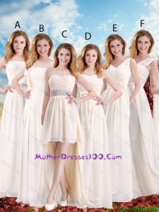 Elegant Empire Champagne Mothers Dresses with Hand Made Flowers