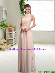 Elegant Laced and Bowknot Mothers Dresses with Halter Top