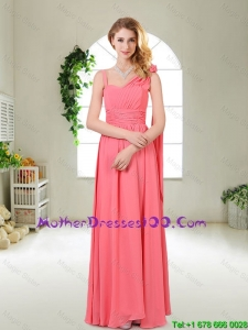 Luxurious Asymmetrical Mothers Dresses in Watermelon Red