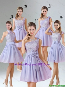 2016 Spring A Line Mini Length Mother Dresses in Lavender
