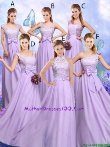 Popular Laced and Bowknot Mother Dresses with Empire