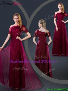 Perfect Empire Appliques Mother Dresses with Asymmetrical