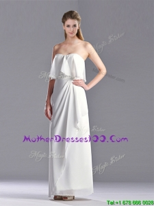 New Arrivals Empire Strapless Ankle Length Sexy Mother of The Bride Dress in White