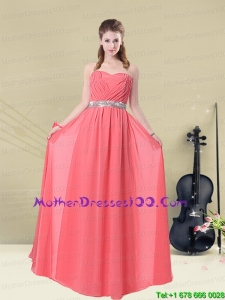 Beautiful Strapless Mother of the Bride Dresses Floor Length with Beading