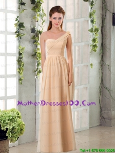 2015 Chiffon Beautiful Mother of the Bride Dresses with Ruching