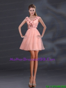 2015 Pretty Appliques and Ruffles A Line Beautiful Mother of the Bride Dresses