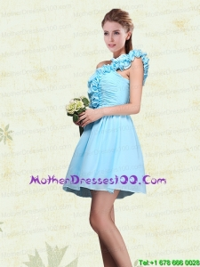 Ruching and Ruffles One Shoulder Chiffon Beautiful Mother of the Bride Dresses