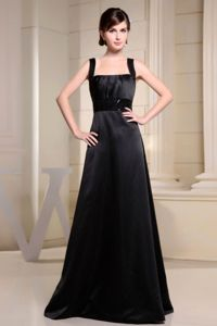 Recommended Straps Black Long Mother of Bride Dresses Online
