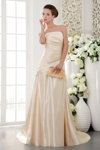 Lace-up Brush Train Champagne Mother of the Bride Outfits