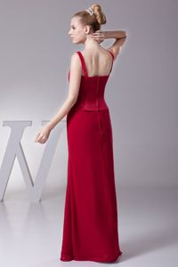 Fast Shipping Floor-length Straps Red Mother of Bride Dresses