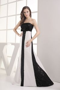 Perfect Sequins White and Black Mother of the Groom Dresses for Formal Prom