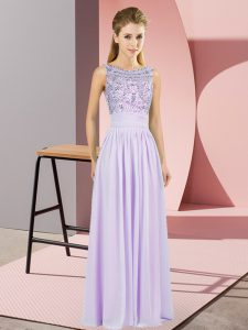 Custom Design Sleeveless Beading Backless Mother Of The Bride Dress with Lavender