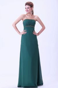 Floor-length Beaded Green Mother of Bride Dresses with Beading