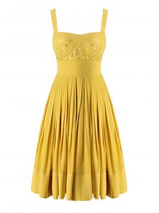 Super Pleated Yellow Sleeveless Chiffon Criss Cross Mother of Bride Dresses for Prom