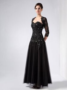 Sweetheart Beading Ankle-length Black Mother of the Bride Dresses
