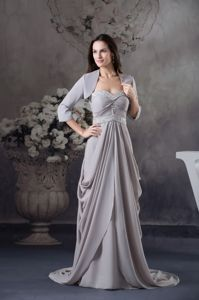 Pick ups Beading Sweetheart Ruched Pleated Mother Bride Dress