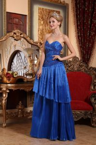 Fashion Pleated Layered Sweetheart Royal Blue Mother Bride Dress