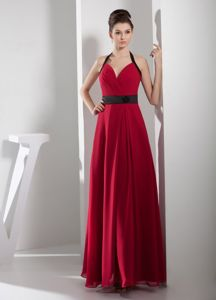 Halter Top Mother of the Bride Dress for Wedding Reception Red