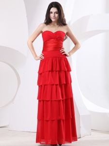 Sweetheart Ruched and Ruffled Mother of the Bride Dresses for Formal Prom