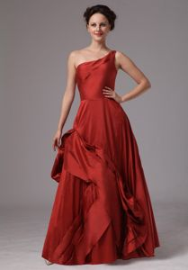 One Shoulder Taffeta Mother of the Groom Dresses for Wedding