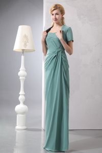 Wholesale Strapless Chiffon Mother of Bride Dresses with Slit Back