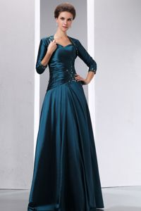 2014 Spaghetti Straps Applique Mother of Bride Dress with Beading