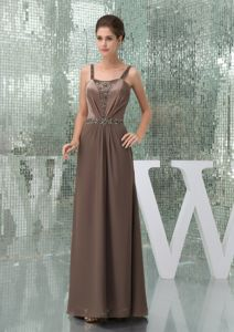 Discount Clearance Straps Beading Dress for Bride Mother Chiffon