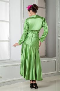 Spring Green Sweetheart Mother of the Groom Dresses with Ruches
