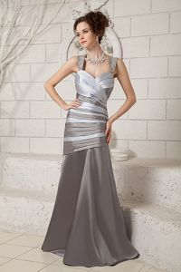 Attractive Beaded Straps Ruches Dresses for Bride Mother in Taffeta