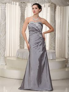 Sweetheart Floor-length Grey Dresses for Bride Mother with Beading