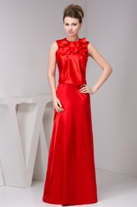 New Layered High-neck Floor-length Mother Bride Dresses in Red