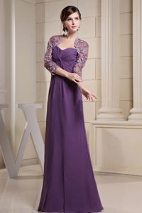 Most Popular Purple Ruched Sweetheart Mother of the Bride Outfits