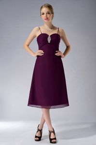 Burgundy Spaghetti Straps Mother of the Bride Outfits with Beading