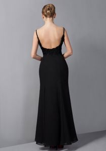 Spaghetti Straps Ankle-length Beading Cool Back Mother of the Bride Dresses