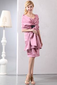 Ruffled and Layered Pink Sweetheart Mother Of The Bride Dresses