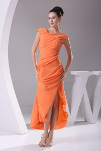 Beautiful Orange Mother of the Bride Dresses for Weeding with Cap Sleeves