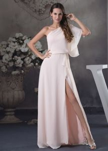 Chiffon Mother of the Bride Dresses with One Shoulder and Slit