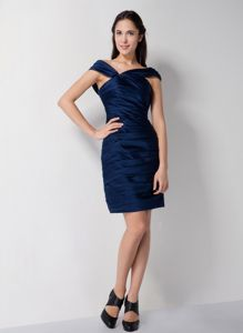 Asymmetrical Neck Royal Blue Mothers Dress for Formal Prom