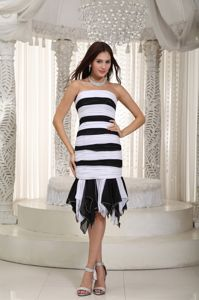 Customized Black and White Stripes Mother of the Bride Outfits