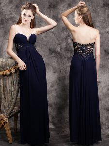 Sleeveless Zipper Floor Length Appliques Mother Of The Bride Dress