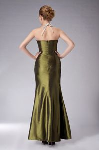 Recommended Olive Green Ankle-length Beading Mother Of The Bride Dress