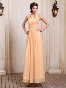 Pretty Chiffon Ankle-length Mother of Bride Dresses for Formal Prom With Halter